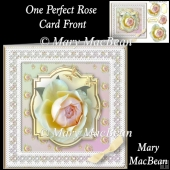 One Perfect Rose Card Front