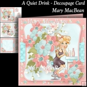 A Quiet Drink - Decoupage Card