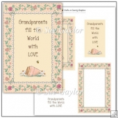 Grandparents fill the World with Love Card Topper
