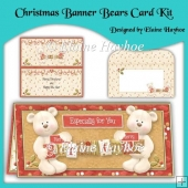 Christmas Banner Bears Card Kit