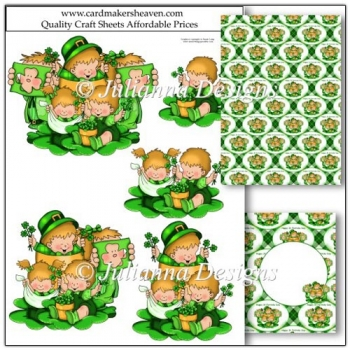 The Shamrock Kids Decoupage Set
