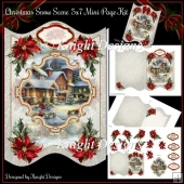 Christmas Snow Scene 5x7 Shaped Mini Page Kit