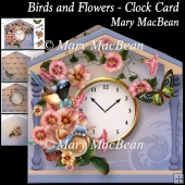 Birds and Flowers - Clock Card