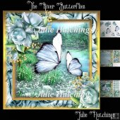 The River Butterflies Card Front Kit