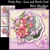 Pretty Posy - Lace and Pearls Card