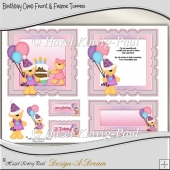 Birthday Card Front & Frame Topper