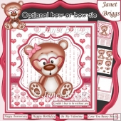 COULDN'T BEAR TO BE WITHOUT YOU 7.5 Male or Femal Decoupage Kit