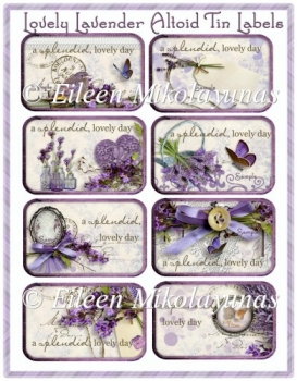 Lovely Lavender Altoid Tin Cottage Chic Labels
