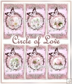 Circle of Love Valentine Tags for Toppers/Inserts