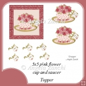 ROSES CUP AND SAUCER 5X5 TOPPER