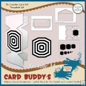 DL Cracker Card Kit Template Set