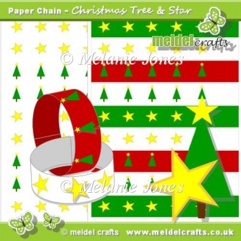 Christmas Tree and Star Paper Chains