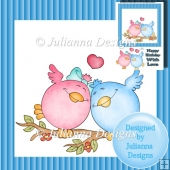 8x8 Love Birds Topper