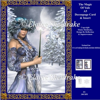 Magic Of Yule A5 Decoupage Pagan Winter Solstice Card Kit