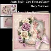 Pretty Bride - Card Front and Insert