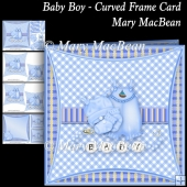 Baby Boy - Curved Frame Card