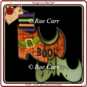 145 Witch Boot Shaped Card *HAND & MACHINE Formats*