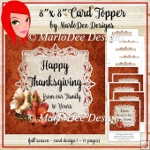 Light Brown 8x8 Thanksgiving, Birthday and Autumn Card Kit (BT)