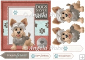 Yorkshire terrier 7x7 card