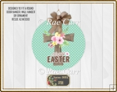 S006 Easter Cross Sign Printable PNG for Round Sublimation Blank