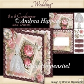 Card topper with Insert Wedding