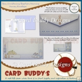 Boy Christening/Baptism/Naming Money Envelope Kit
