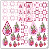 Carole's Lilies Teardrop Pyramge Sheets with Bookmarks