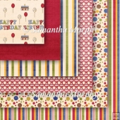 6 Bright Birthday Backing Papers Download