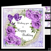 Birthday Flowers_Purple Mini Kit