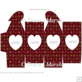 Valentine Chocolate Heart Aperture Heart Topped Box