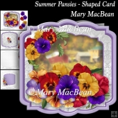 Summer Pansies - Shaped Card