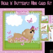 Bear 'n' Butterfly Mini Card Kit