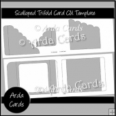 Scalloped Trifold Card CU Template