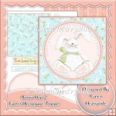 Bunny Hop 2 Easter Decoupage Topper