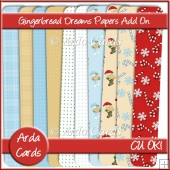 Gingerbread Dreams CU Papers Add On