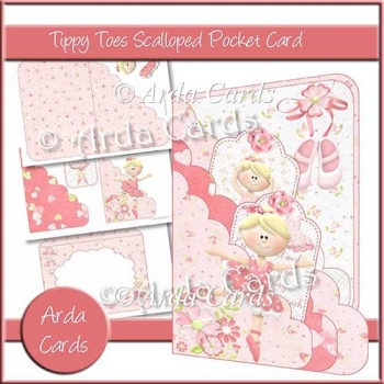 Tippy Toes Scalloped Pocket Card