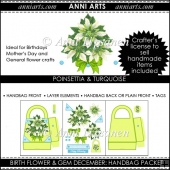 Birth Flowers and Gems December: Handbag Packet
