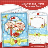 Me My Elf and I Frame Pyramage Card and Envelope