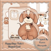 Puppy Dogs Tails 1 Shaped Card