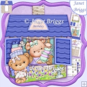 3D COTTAGE BIRTHDAY BEARS 7.5 Card Kit