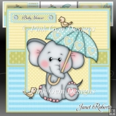 Ella with Umbrella Blue Mini Kit - New Baby Boy/Baby Shower