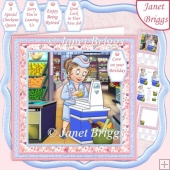 CHECKOUT QUEEN Shop Assistant 7.8 Decoupage & Insert Kit