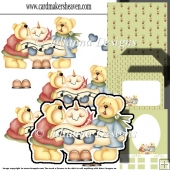 Carol Singing Teddies Decoupage Set