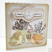 RTP HEDGEHOGS AND FLOWERS CARD