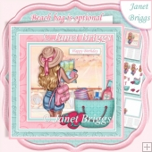 TRAVEL GIRL 7.5 Decoupage & Insert Kit
