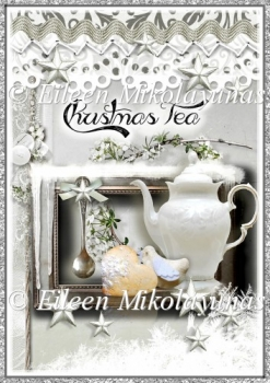 Christmas Tea Holiday Backing Background Paper
