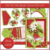 Deck The Halls Upright Diamond Fold Card