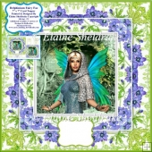 "Delphinium Fairy Fae - 7"" x 7"" Card Topper With Decoupage"