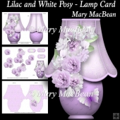 Lilac and White Posy - Lamp Card