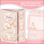 Baby Girl Tickled Pink Off Set Gatefold Card